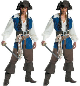 Halloween-Costume-Cosplay-Men-039-s-pirate-costume-Blue-clothes