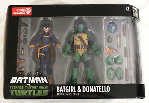 Batgirl-amp-Donatello-Batman-TMNT-Gamestop-Exclusive-Nickelodeon-DC-2-Pack-Turtles