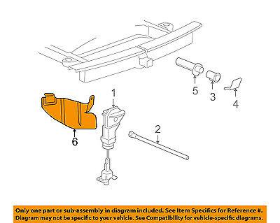 GM OEM Spare Tire Carrier-Rear Body /& Floor-Shield 22969960