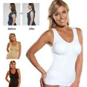 5ea303e180 Women s Body Shaper Genie Bra ShapeWear Tank Top Slimming Cami ...