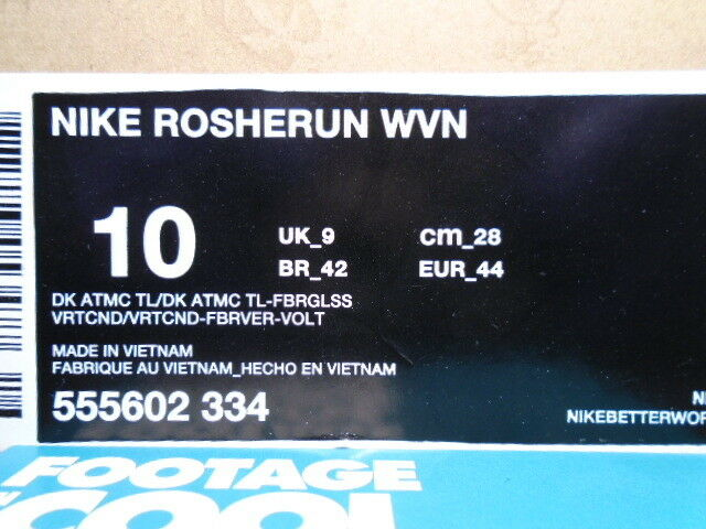 nike roshe laufen rosherun aus atomaren fiberglas blaugrün grün - weiße fiberglas atomaren 555602-334 10 4254a3