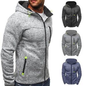 Veste-a-capuche-Homme-Hiver-Slim-Sweat-Chaud-Sweatshirt-Manteau-Outwear-Chandail
