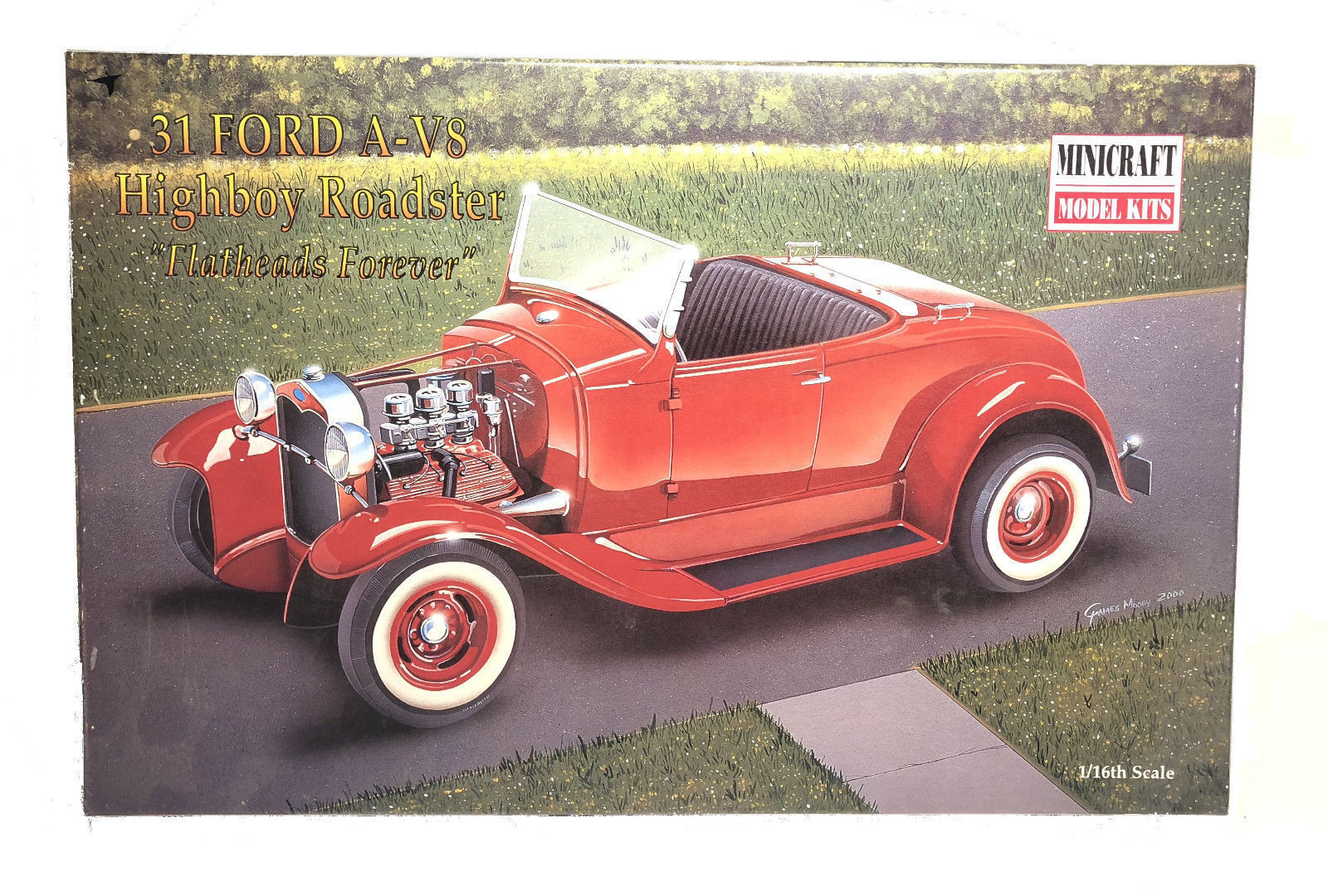 MINICRAFT 1 16 KIT AUTO FORD A V8 HIGHBOY ROADSTER FLATHEADS FOREVER 1931  11222