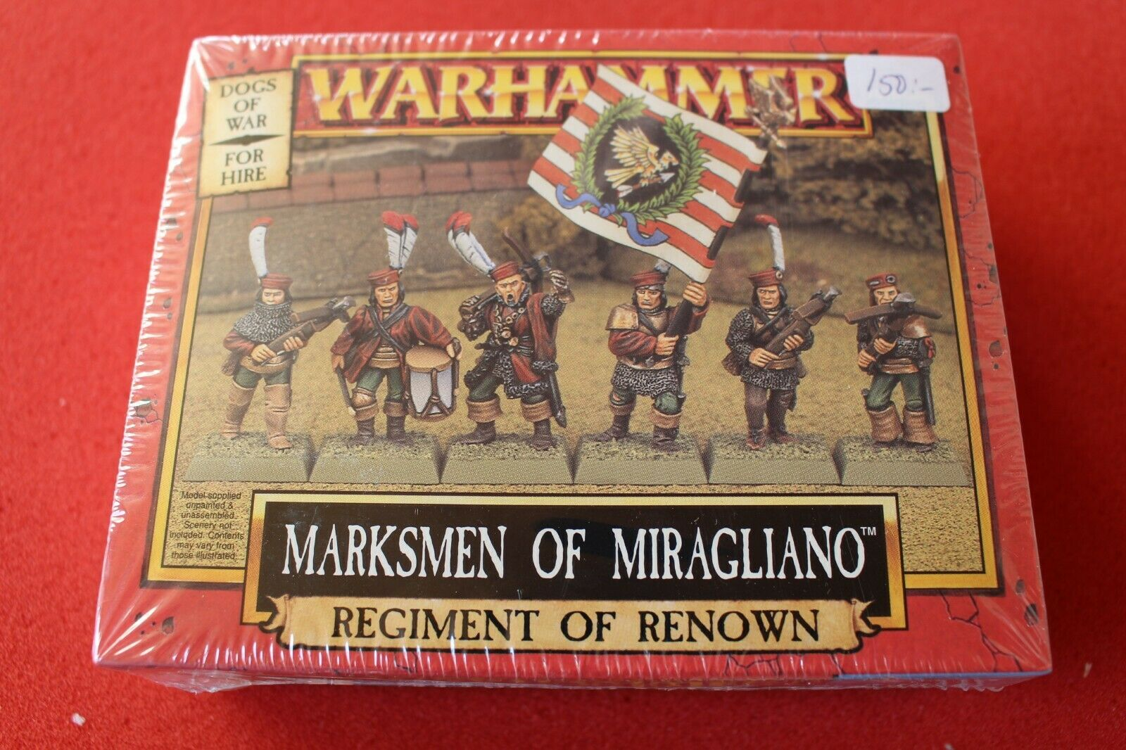Spel arbetarhop Warhammer Dogs of War Markmänts of Miragllano BNIB Sealed Metal GW