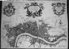 Antica mappa, un nuovo piano della City di Londra, Westminster e SOUTHWARK