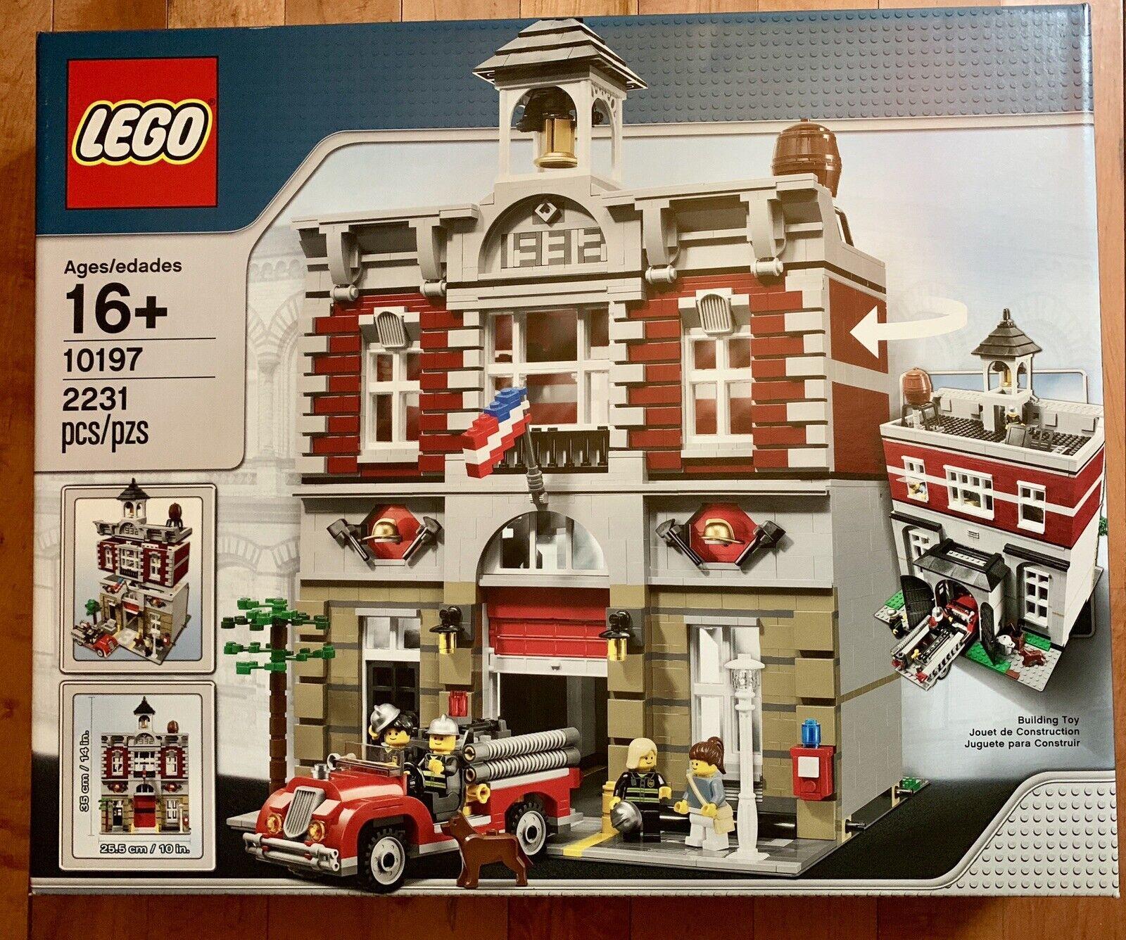 Nuevo LEGO 10197 Fire Brigade  Modular edificio + Vintage Firetruck discontinuado
