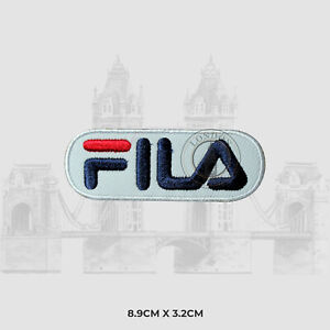 FILA Sports Embroidered Iron On Sew On Patch Badge Applique For Clothes