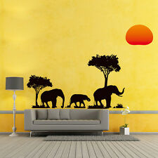 Removable DIY Africa Elephant Sunset Decal Wall Sticker Home Decor 50*70 cm New