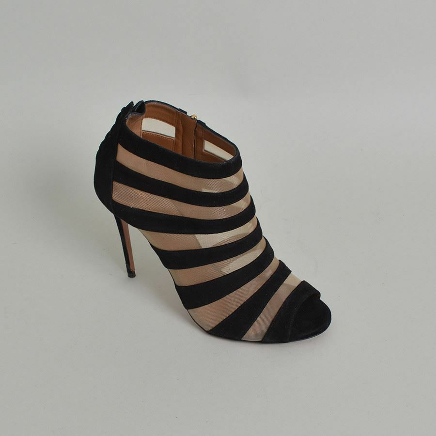 Aquazzura Wild Side Peep-Toe Booties - Size 41