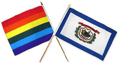 12x18 30.5cmx45.7cm All'ingrosso Combinazione Arcobaleno Gay Pride West Virginia