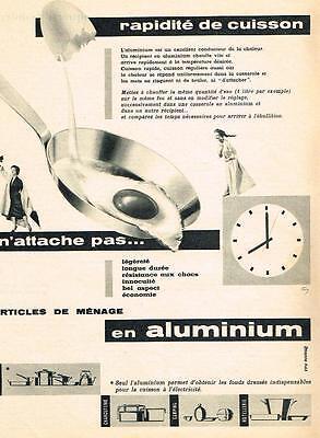 Collectibles Publicite Advertising 1957 Aluminium Article Qui N'attache Pas Exquisite Traditional Embroidery Art