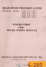 Lagun 1440 1460 1640 1660 Lathe Instructions And Parts Manual