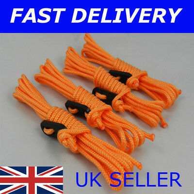 X4 RED Guy Line Ropes 2.4 Metres Tent Camping Gazebo Rope Paracord