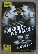 Sz: S Black UFC 199 ROCKHOLD VS BISPING 2 NWT CRUZ VS FABER 3 Mens T-Shirt