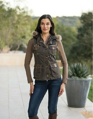 Goode Rider Military Vest in Chocolate