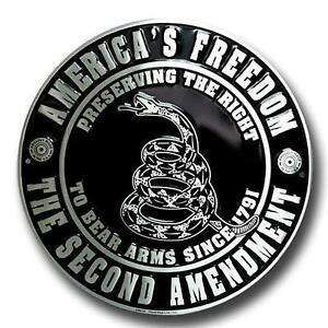 America-039-s-Freedom-the-Second-Amendment-12-034-Round-Metal-Sign