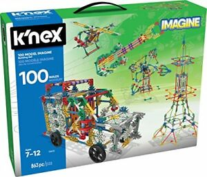 K'NEX 100 Model Building Set 863 Pieces Ages 7+ Engineering Educational Toy