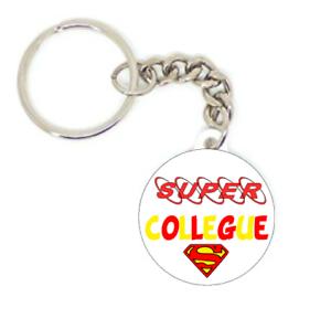 Porte clé badge CERTIFIÉE SUPER TATA TATIE PERSONNALISATION idée cadeaux 37 mm