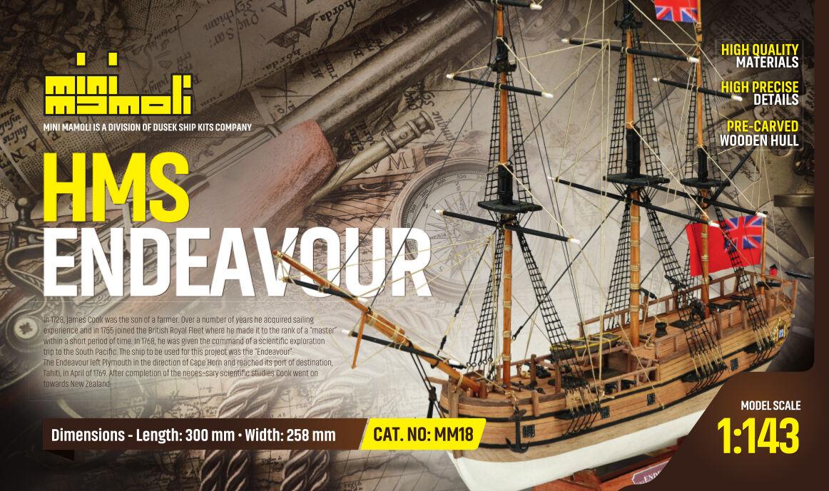 MM18 HMS Endeavour ( modellino in legno da costruire )