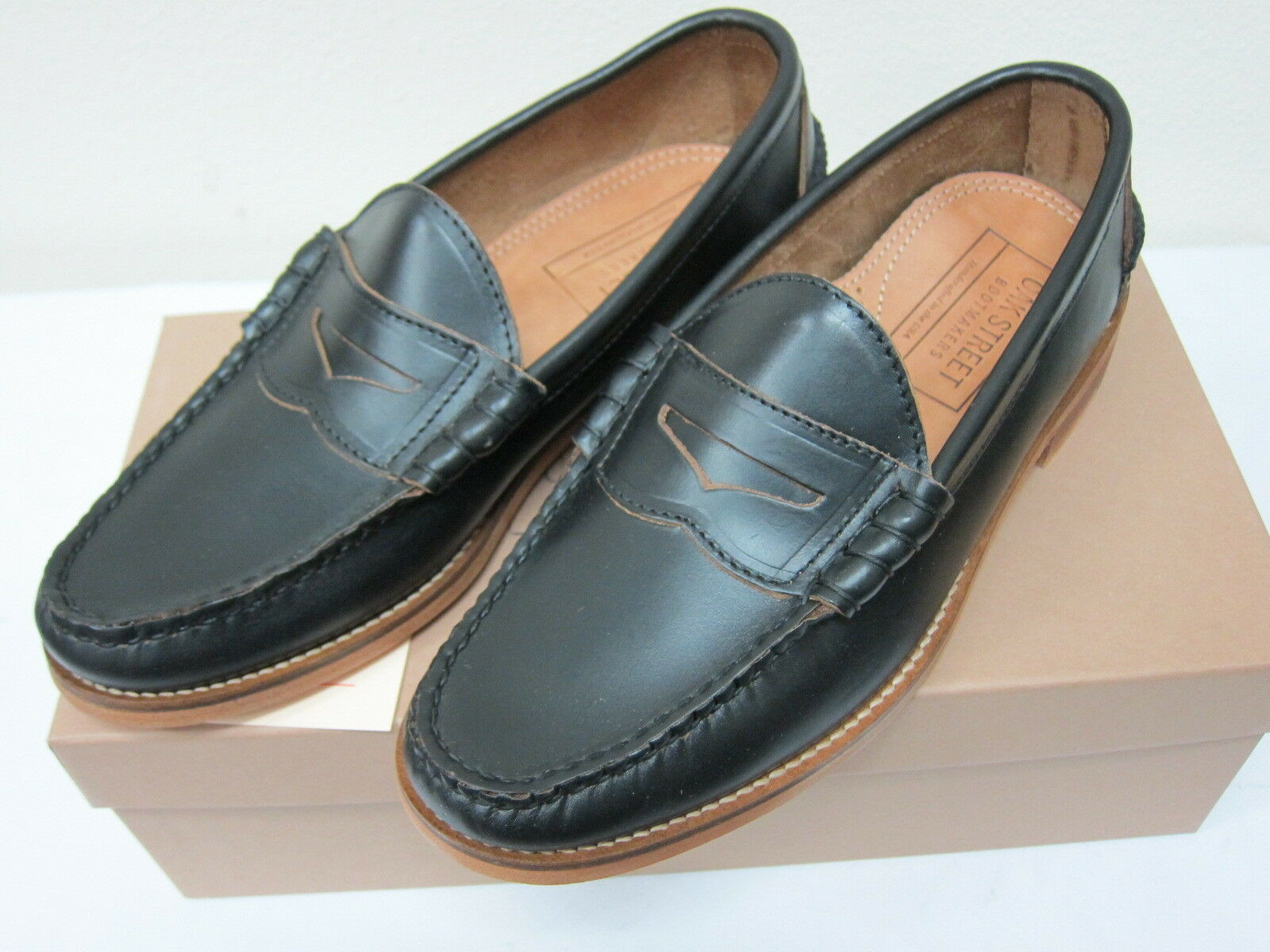 Oak Street stivalimakers Beefroll Penny Loafer nero Horween Leather Made in USA