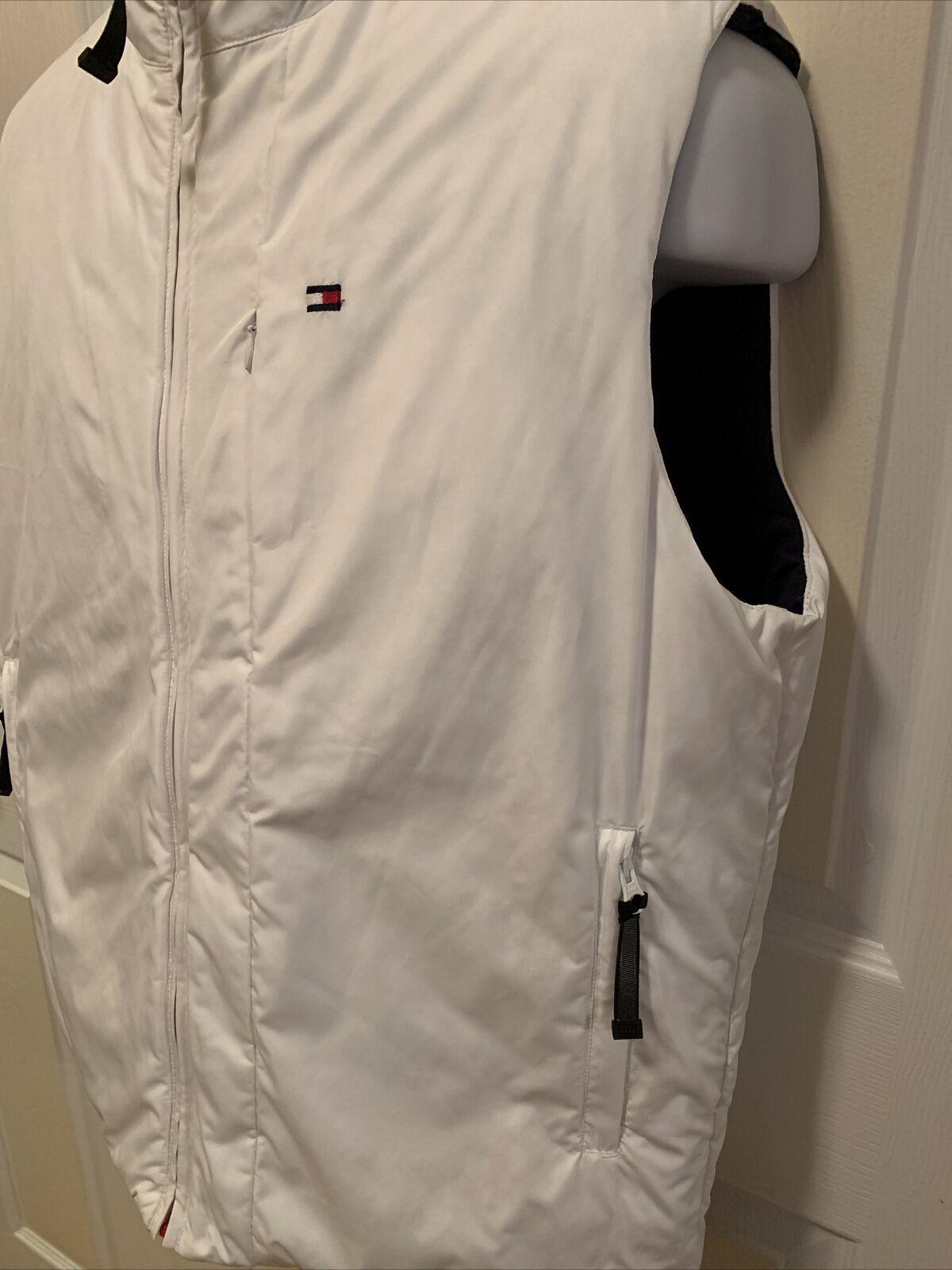 Tommy Hilfiger Mens Reversible Puffy Vest Blue/Wh… - image 10