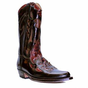 serpent cow Rouge le Détails sur Homme bottes boy LOBLAN cuir 772 effet afficher en Marron Western Snip titre d'origine Bout de shCtQxBrd