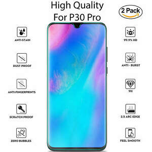 New-For-Huawei-P30-Pro-Tempered-Glass-Screen-Protector-Full-Protection-2-Pack