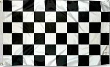 Checkered Flag 3x5 w/ Grommets - Black & White - Nascar Racing Race Car Speedway