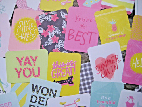 """3/"""" X 4/"""" 25 CARDS /'HAPPY PLACE/' PROJECT LIFE CARDS BY BECKY HIGGINS"""
