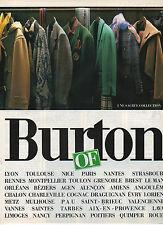 Publicité Advertising 1986  Burton OF pret à porter collection mode vetement