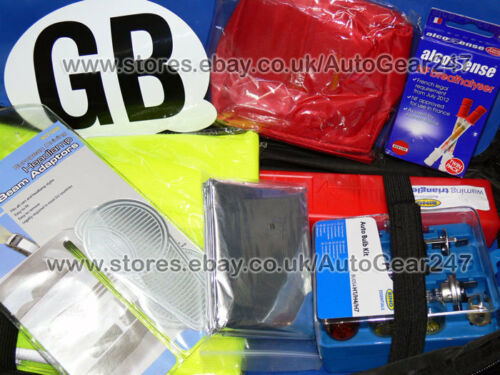 Approved European Euro Continental Driving Abroad Legal Travel Kit in Bag RCT1