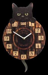 CHATS-Horloge-murale-avec-queue-comme-Chronographe-pendule-Chaton-tickin