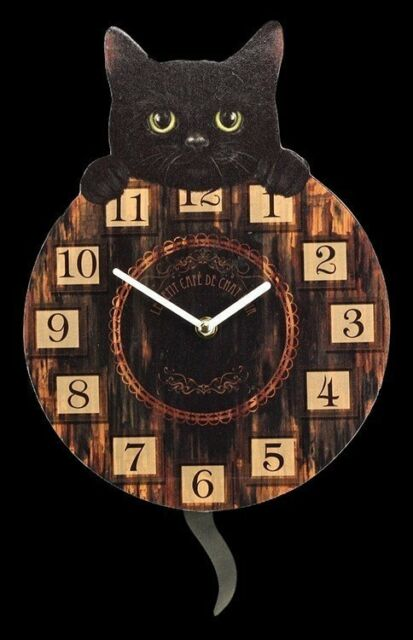 CHATS Horloge murale avec queue comme Chronographe pendule - Chaton tickin -