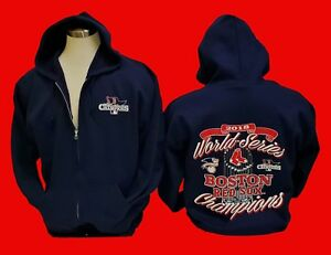 brand new ac8db 90e23 Details about 2018 BOSTON RED SOX World Series Champions Navy Blue ZIPPER  HOODIE SWEATSHIRT
