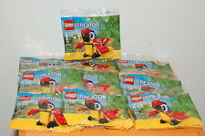 Lot of 10 LEGO Creator 30472 Parrot Polybag Mini Model Promo ~ Factory Sealed ~