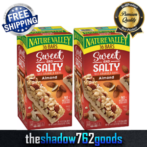 Nature Valley Sweet and Salty Nut Granola Bars Almond Snack Bars 36-Count 2-PACK