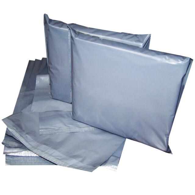 100 Grey Postal Mailing Bags Peel and Seal A Grade 6.5x9'' 165 x 229mm 4U