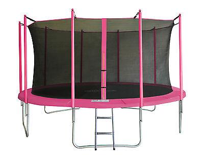 SixBros. SixJump 4,30 M Gartentrampolin Pink Trampolin Komplettset CST430/L1779