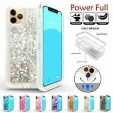 For iPhone 11 Pro Max - Shockproof Case Glitter Liquid Quicksand Defender Cover