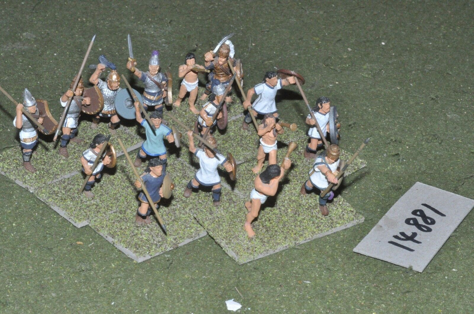 25mm classical   greek - mycenean infantry 16 figs - inf (14881)