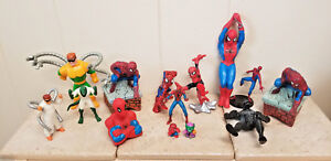 Marvel-Universe-Spiderman-Spider-Man-Figure-Toys-Collectible-Lot-of-14