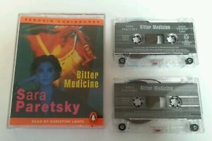 AUDIO-BOOK-CASSETTE-Sara-Paretsky-Bitter-Medicine-Read-By-Christine-Lahti-Tape