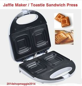 Electric Jaffle Press Machine Non Stick Sandwich Maker Toaster