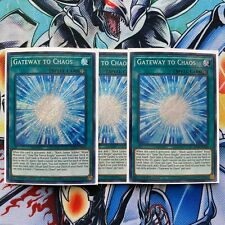 x3 Gateway to Chaos Secret Rare 1st Edition SHVA-EN058 NM Yugioh