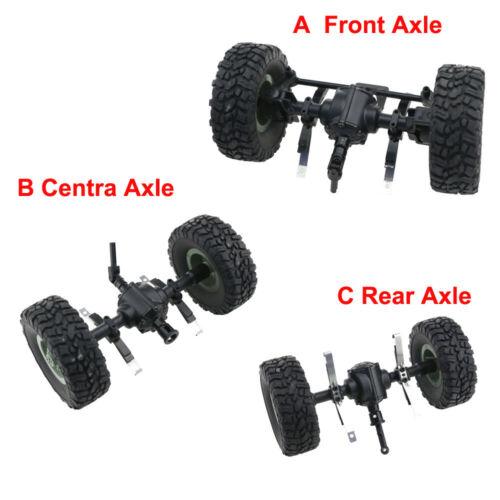 JJRC Q60 6WD RC Car Front Middle Rear Bridge Axle Set For 1//16 Military Truck