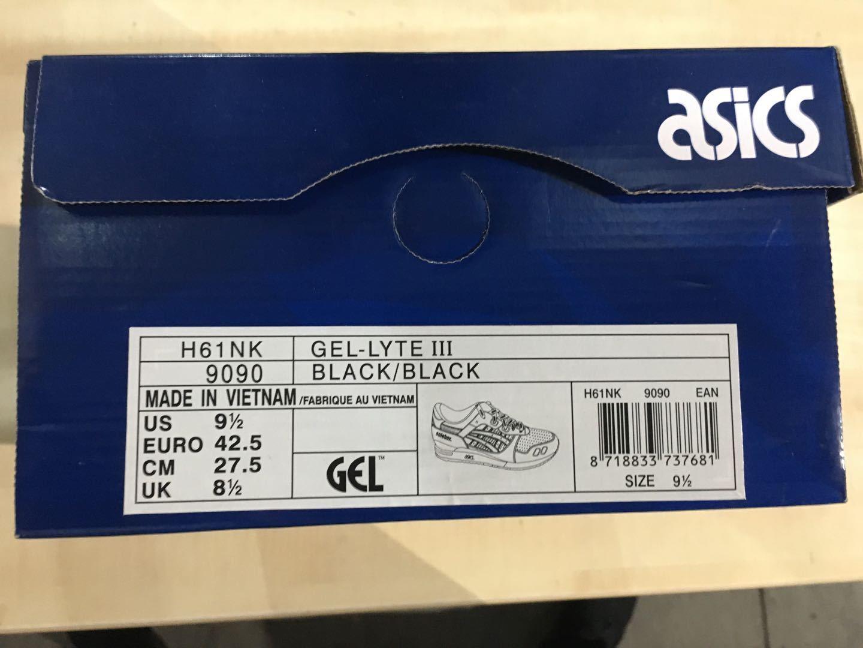 ASICS GEL LYTE 3 3 3 H61NK 9090 Carpenter BEE Solebox Taglia EUR 42.5 DS 96ce82