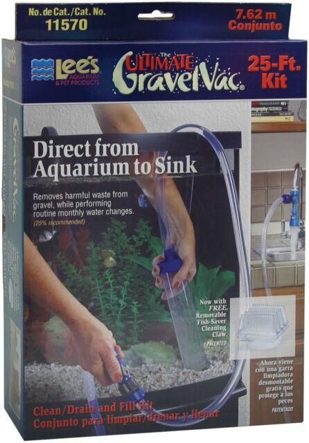 Lee's The Ultimate Gravel Vac 25′ Kit Aquarium Siphon Cleaner