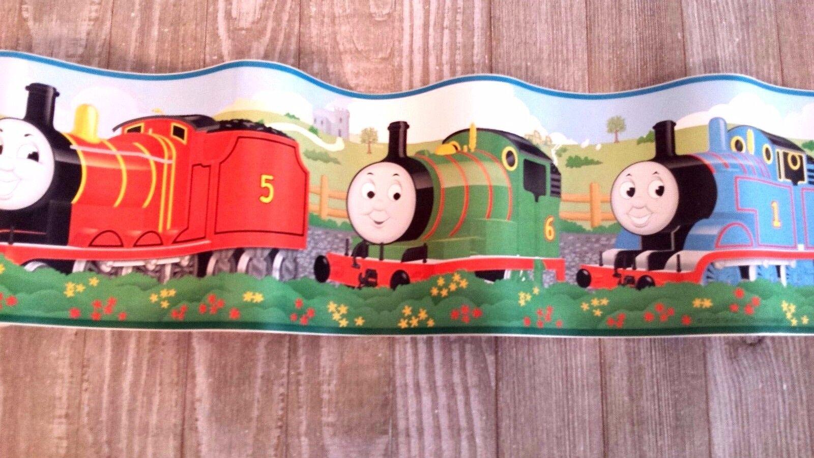 Wall border roll Thomas the train James nursery border peel /& stick 5 yd new
