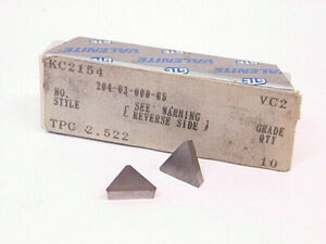 NEW-SURPLUS-10PCS-VALENITE-TPC-2-522-GRADE-VC2-CARBIDE-INSERTS