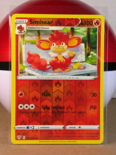 Simisear  27//189 S/&S Darkness Ablaze  Holo Reverse  Mint//NM Pokemon